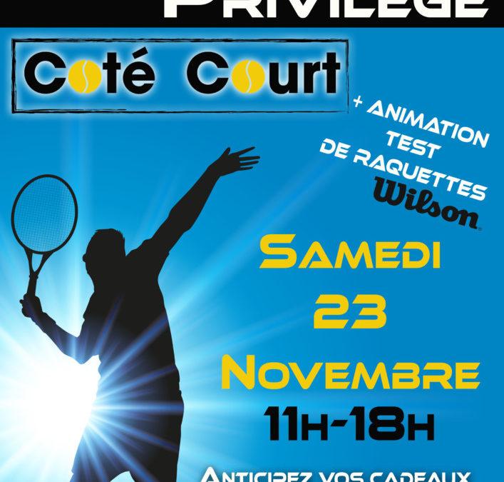 Vente privée Coté-Court et Animation WISLON au CT CHAVILLE: samedi 23 novembre à partir de 11H